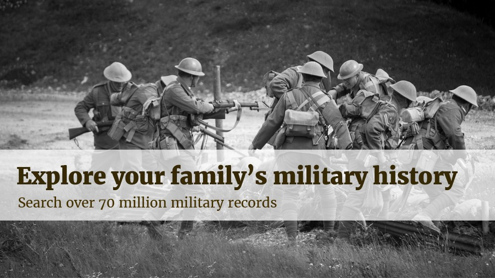 Explore your family's military history. Search over 70 million military records.