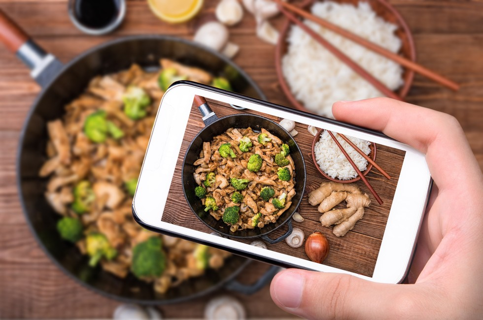 Photo of Phone and Food