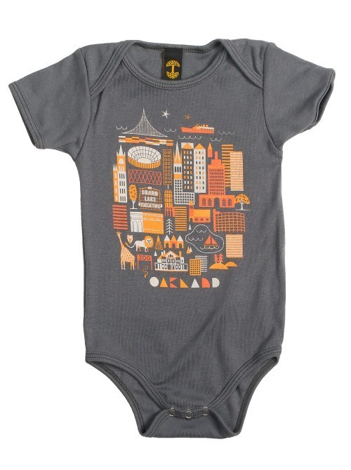 Oaklandish Infant OAK Swirvington Onesie