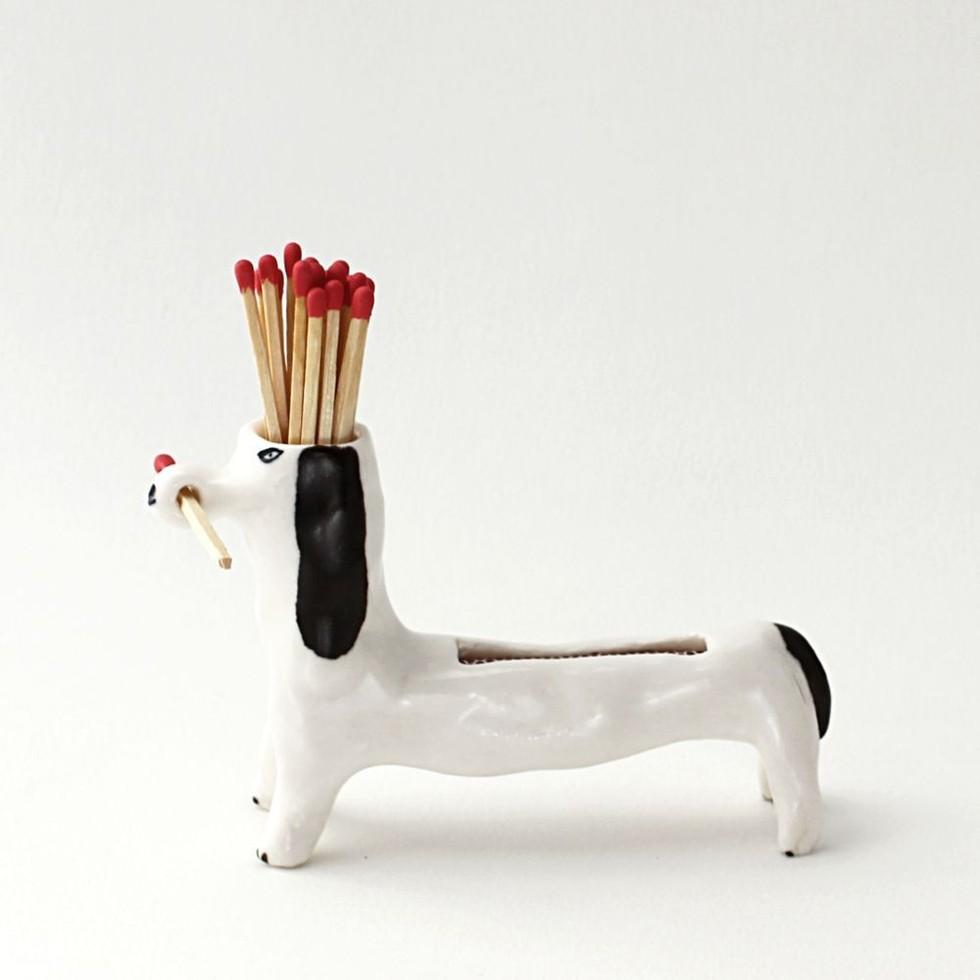 Eleonor Boström Ceramic Matchstick Dog