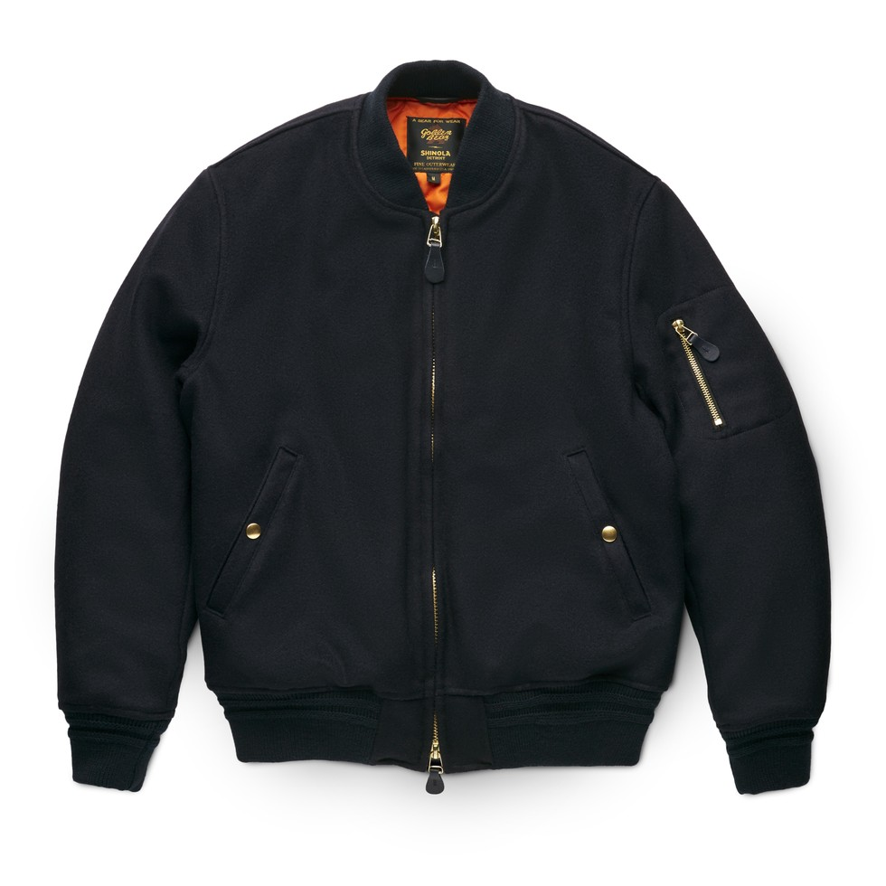 Shinola + Golden Bear Men's Wool Bomber