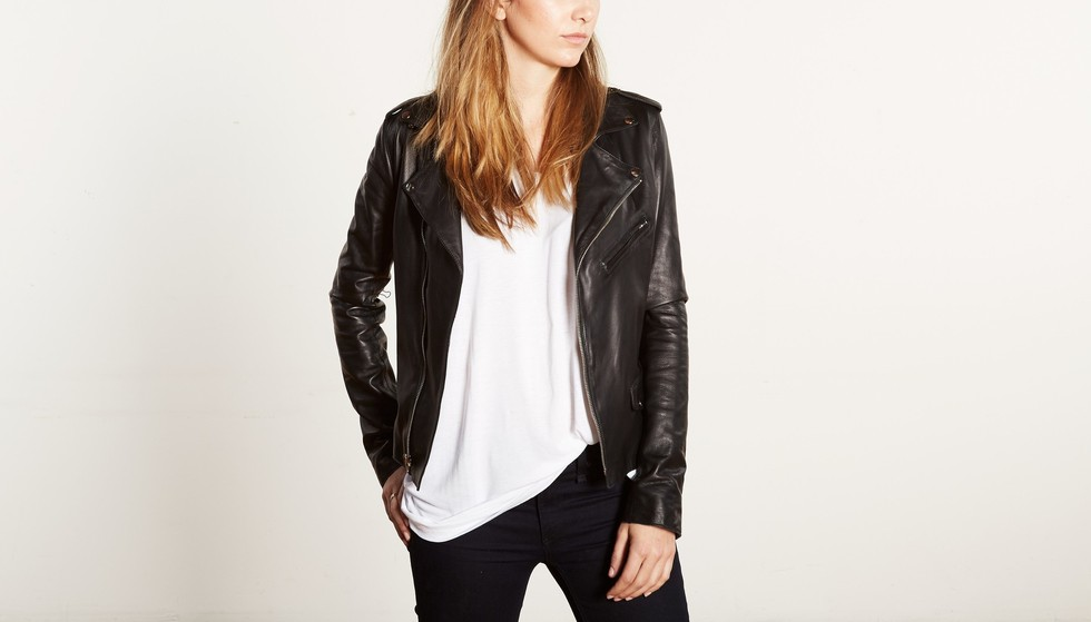Cat Wu Lambskin Leather Moto