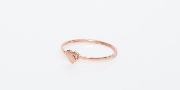 Fiat Lux Rose Gold Heart Ring