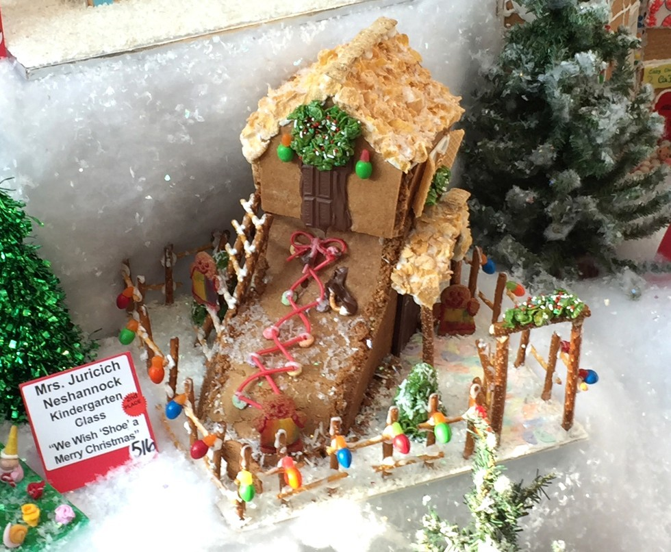 crazy fun with gingerbread at ppg wintergarden