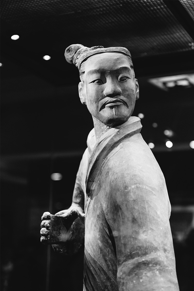 One Terracotta Warrior at the famous Terracotta Warrior Museum, Xi'an China