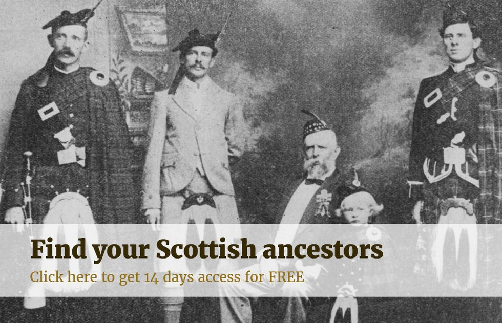 find your scottish ancestors. click here to get 14 days free access