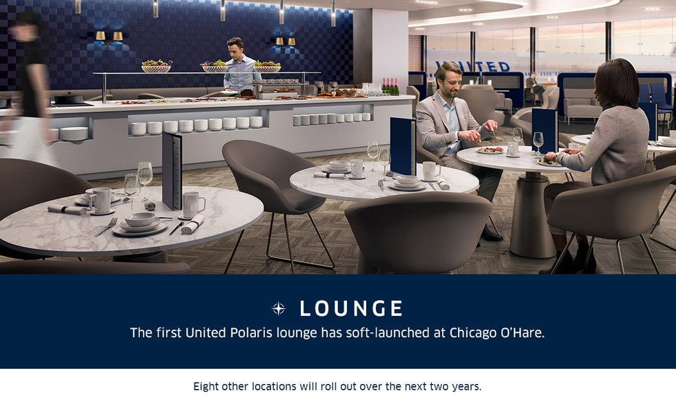 2. The first United Polaris lounge has soft-launched at Chicago's O'Hare airport.