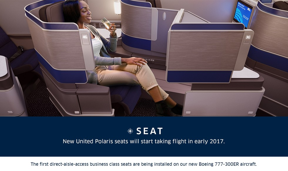3. New United Polaris seats will start taking flight in early 2017.