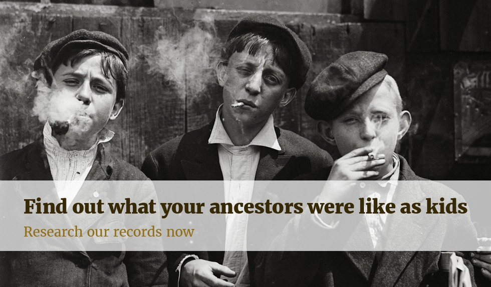 find out what your ancestors were like as kids. research our records now