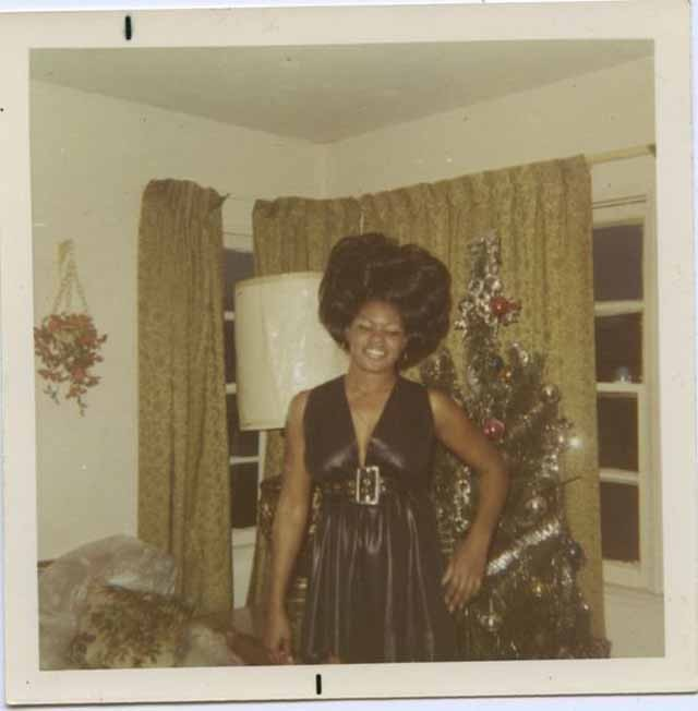 were obsessed with this vintage archive of women in front of christmas trees - Vintage Christmas Photos