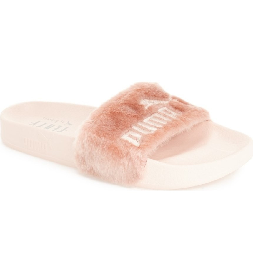 Furry Accessories (bonus points for Fenty Puma slides)