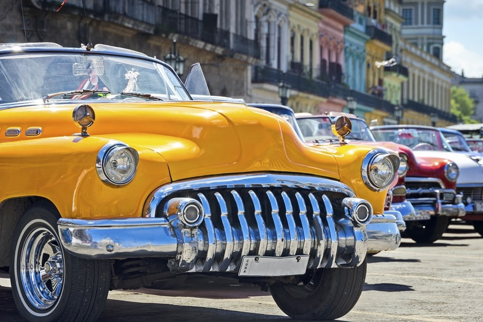 Old classic car in Havana, Cuba