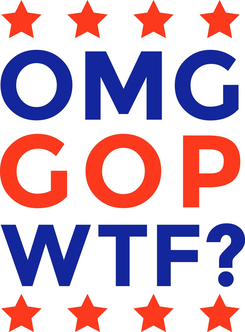 "Hello!Lucky, ""OMG GOP WTF?"""