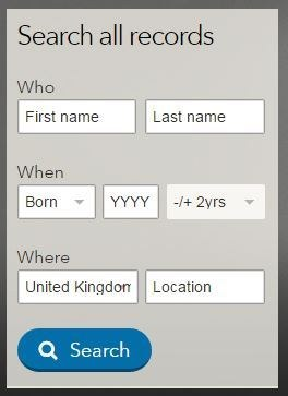 Findmypast search