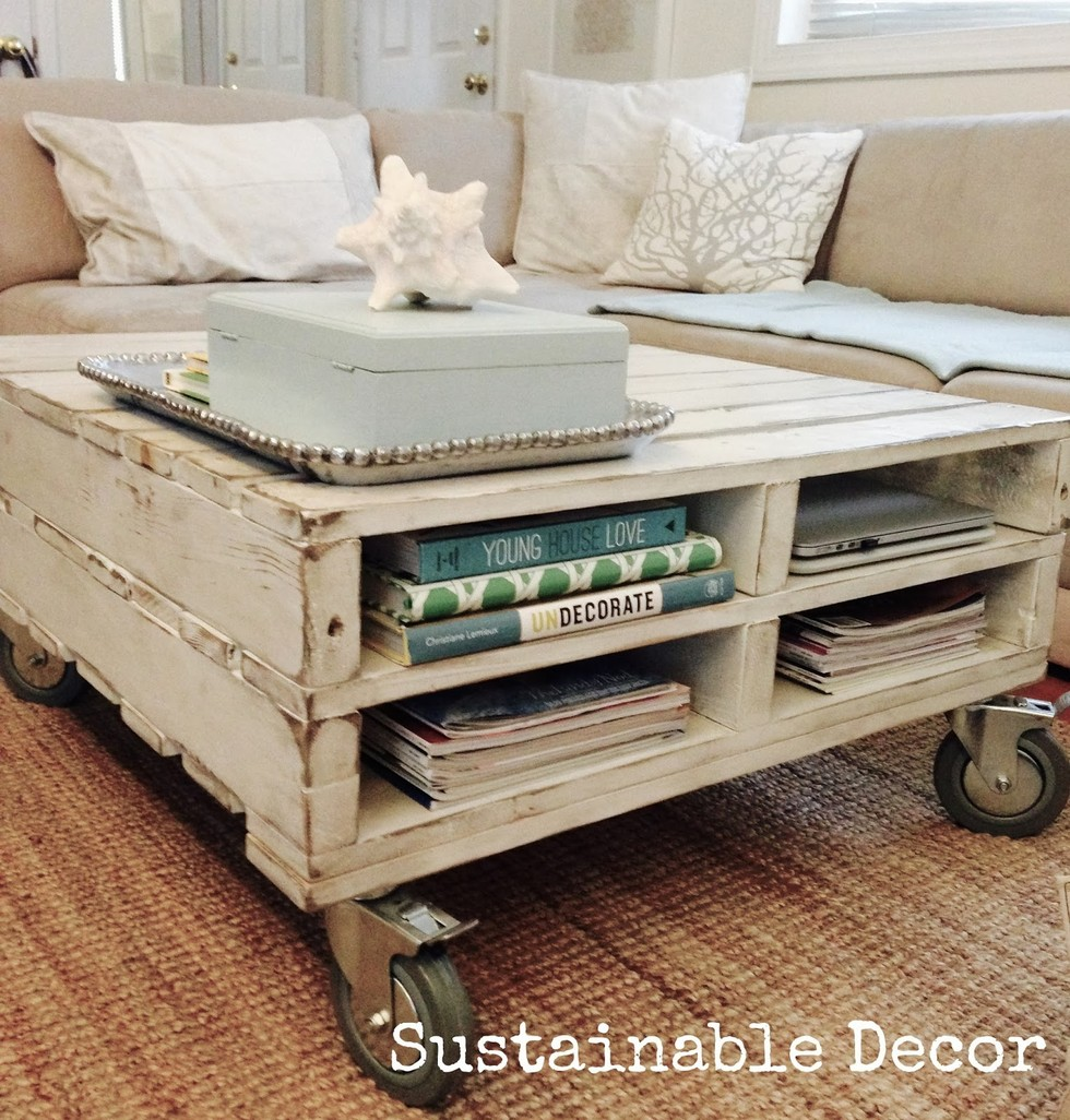 How To Projects Pallet Coffee Table The Snug