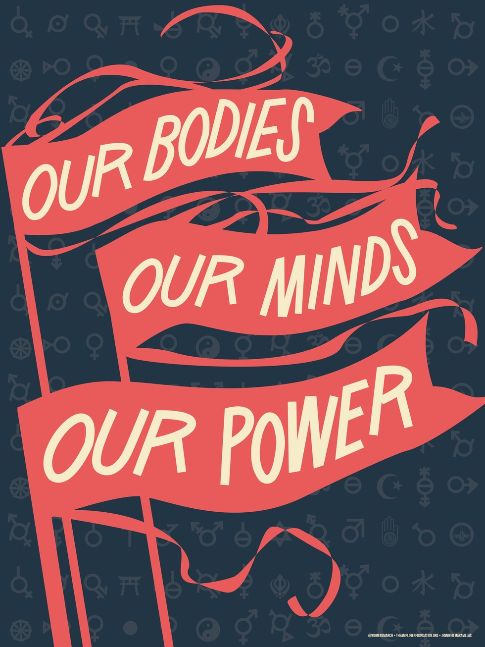 "Women's March on Washington, Jennifer Maravillas, ""Our Bodies Our Minds"""
