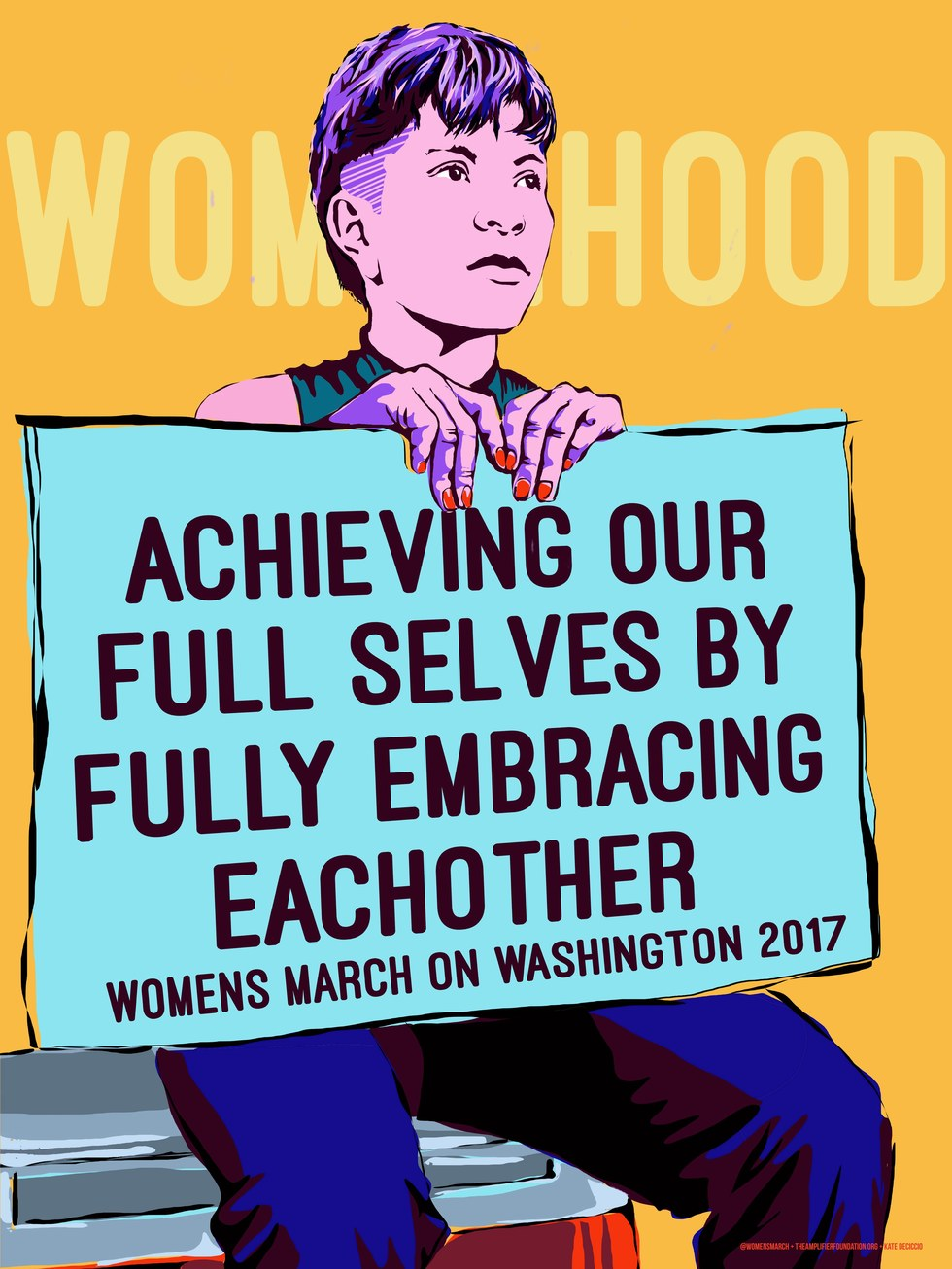 "Women's March on Washington, Kate Diciccio, ""Embracing Each Other"""