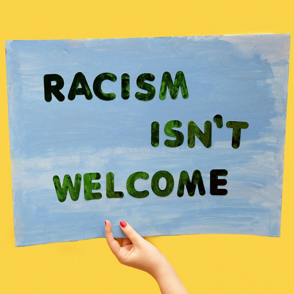 "Olivia Locher, ""Racism Isn't Welcome"""