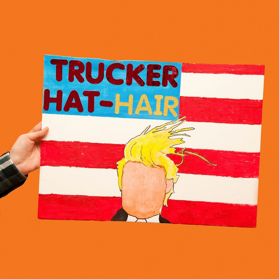 "Olivia Locher, ""Trucker Hat Hair"""
