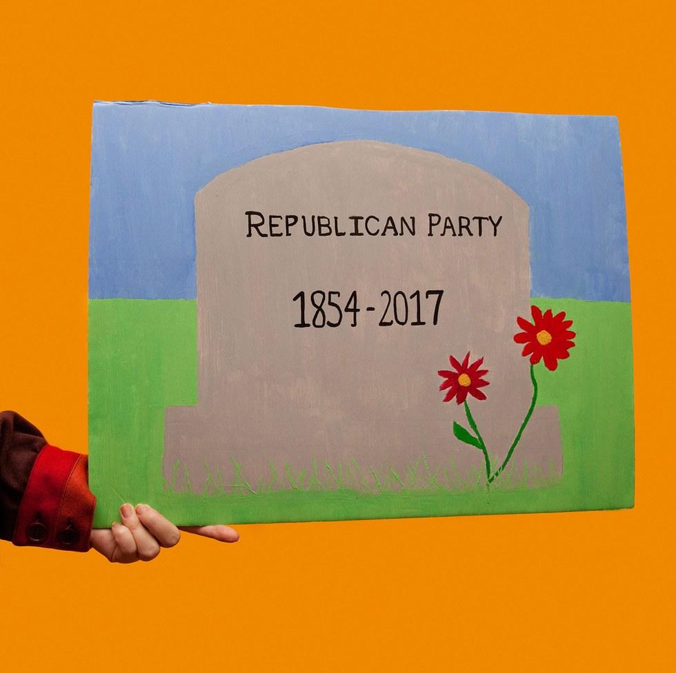 "Olivia Locher, ""RIP GOP"""