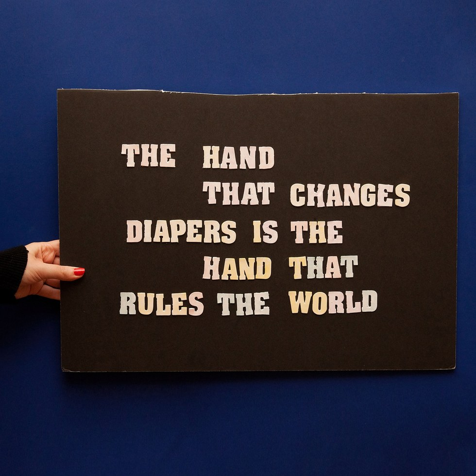 "Olivia Locher, ""The Hand That Changes Diapers"""