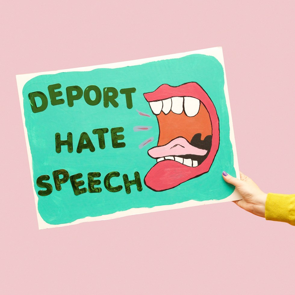"Olivia Locher, ""Deport Hate Speech"""