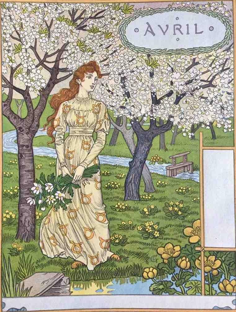 Les Mois: Douze Compositions by Eugene Grasset