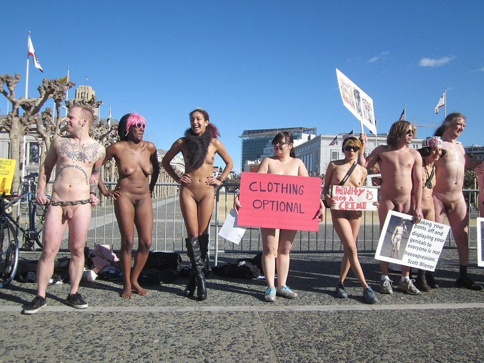 Public Nudity Protest, February 2013