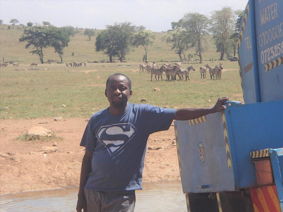 Patrick Kilonzo Mwalua in Tsavo Kenya