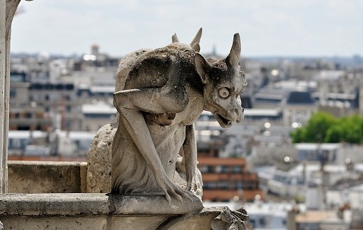 A beloved gargoyle surveys the land below