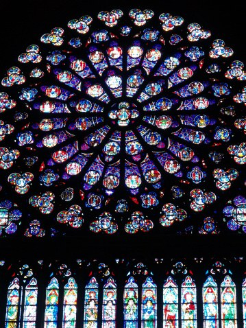 The rose window is an ancient kaleidoscope
