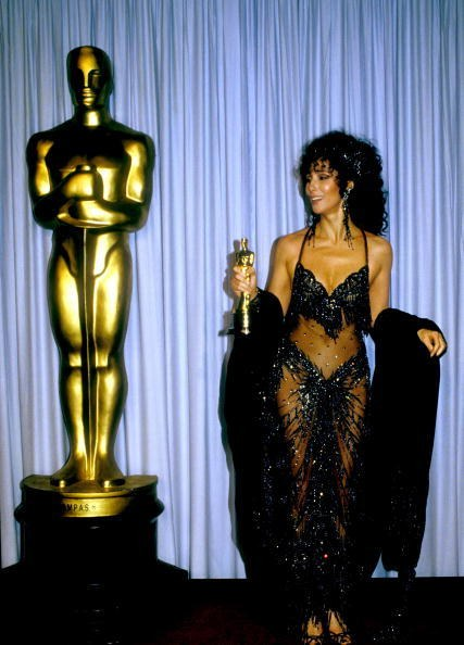 Cher in Bob Mackie at the 60th Academy Awards (1988)