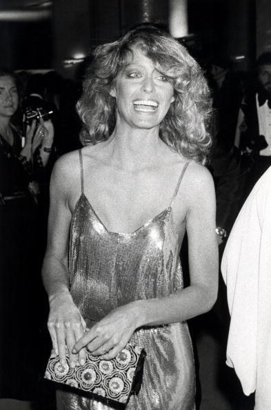 Farrah Fawcett in Stephen Burrows at the 50th Academy Awards (1978)