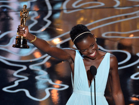 Lupita Nyong'o with her Oscar (2014)