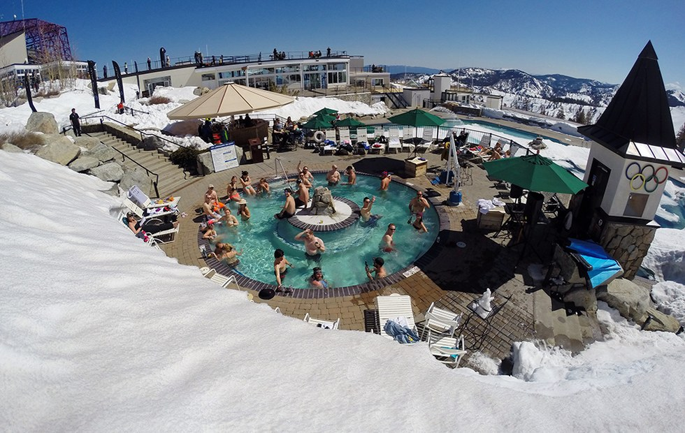 Experience both winter summer in one tahoe weekend 7x7 - High camp swimming pool squaw valley ...
