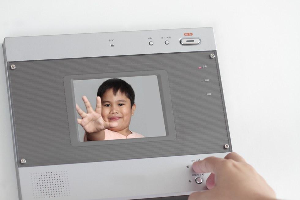 Picture of video doorbell working.