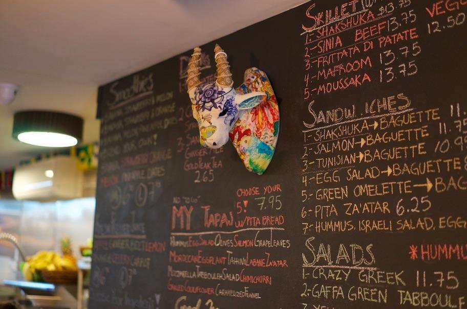 Mellow Yellow's menu mixes café classics with Morroccan cuisine