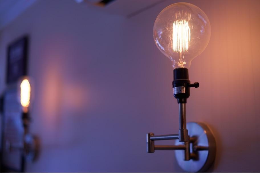 Vintage lights set the mood
