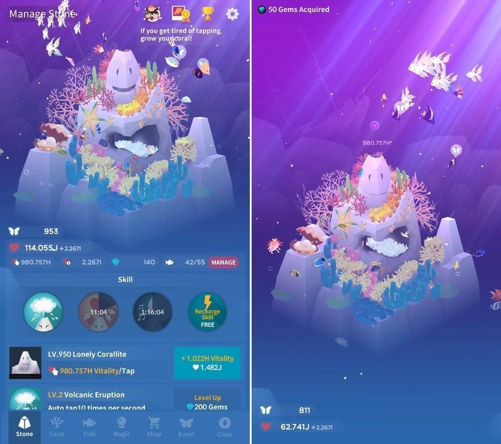 Review tap tap fish vr app lets you swim with the fishes for Tap tap fish game