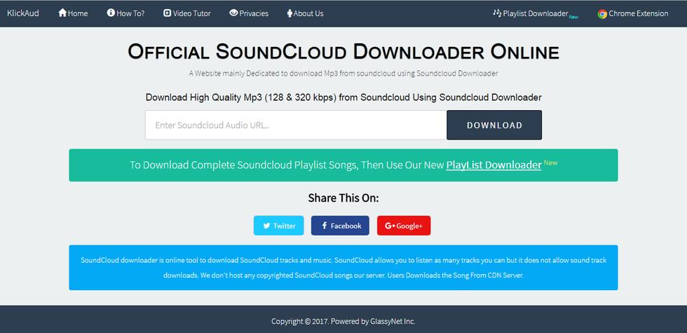 How to download soundcloud songs online using klickaud. Com.