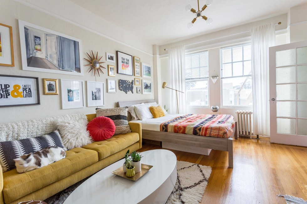 Small space big style take a cue from the instagram worthy home of visual designer adrianne - Big style small spaces photos ...