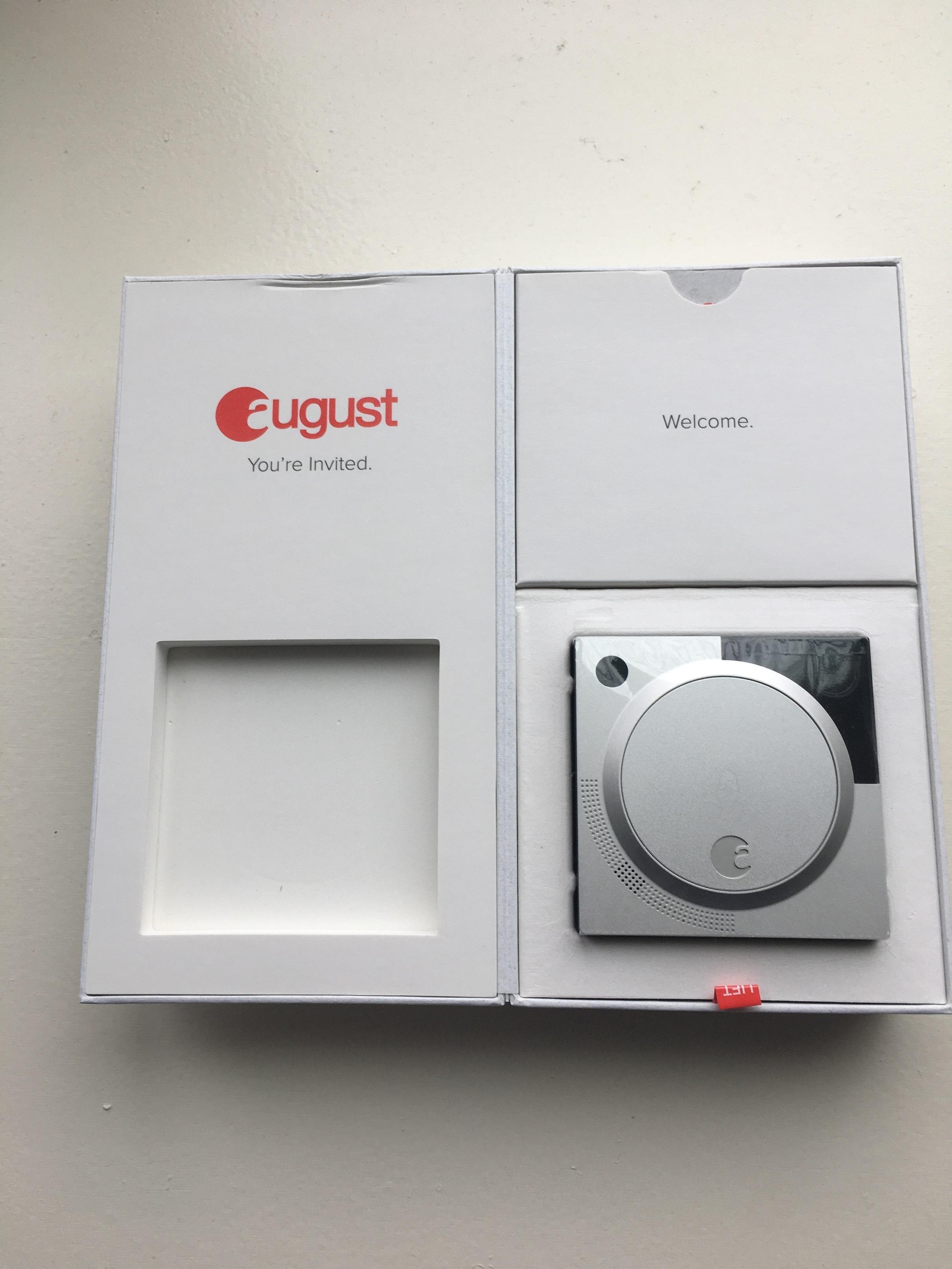 Unbox August Doorbell Cam