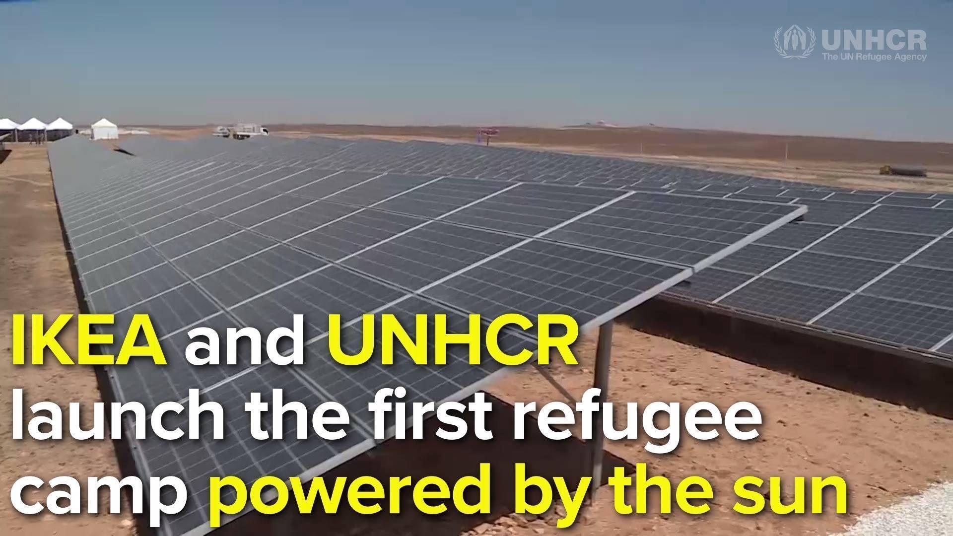 photo image World's First Refugee Camp Powered by Solar