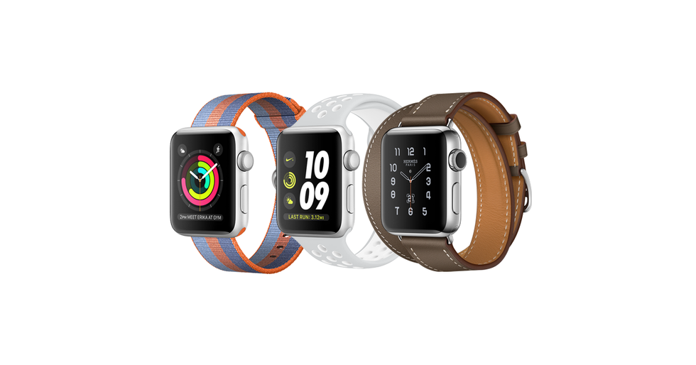 Picture of three Apple Watch Series 2