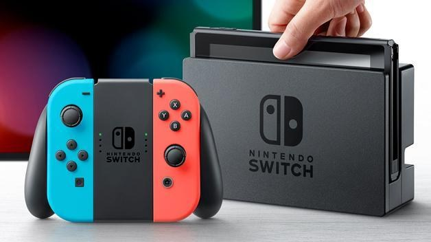 Picture of Nintendo Switch  gaming console.