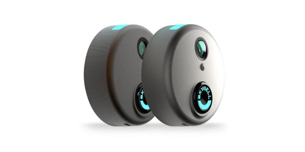 Picture of 2 Skybell HD video doorbells.