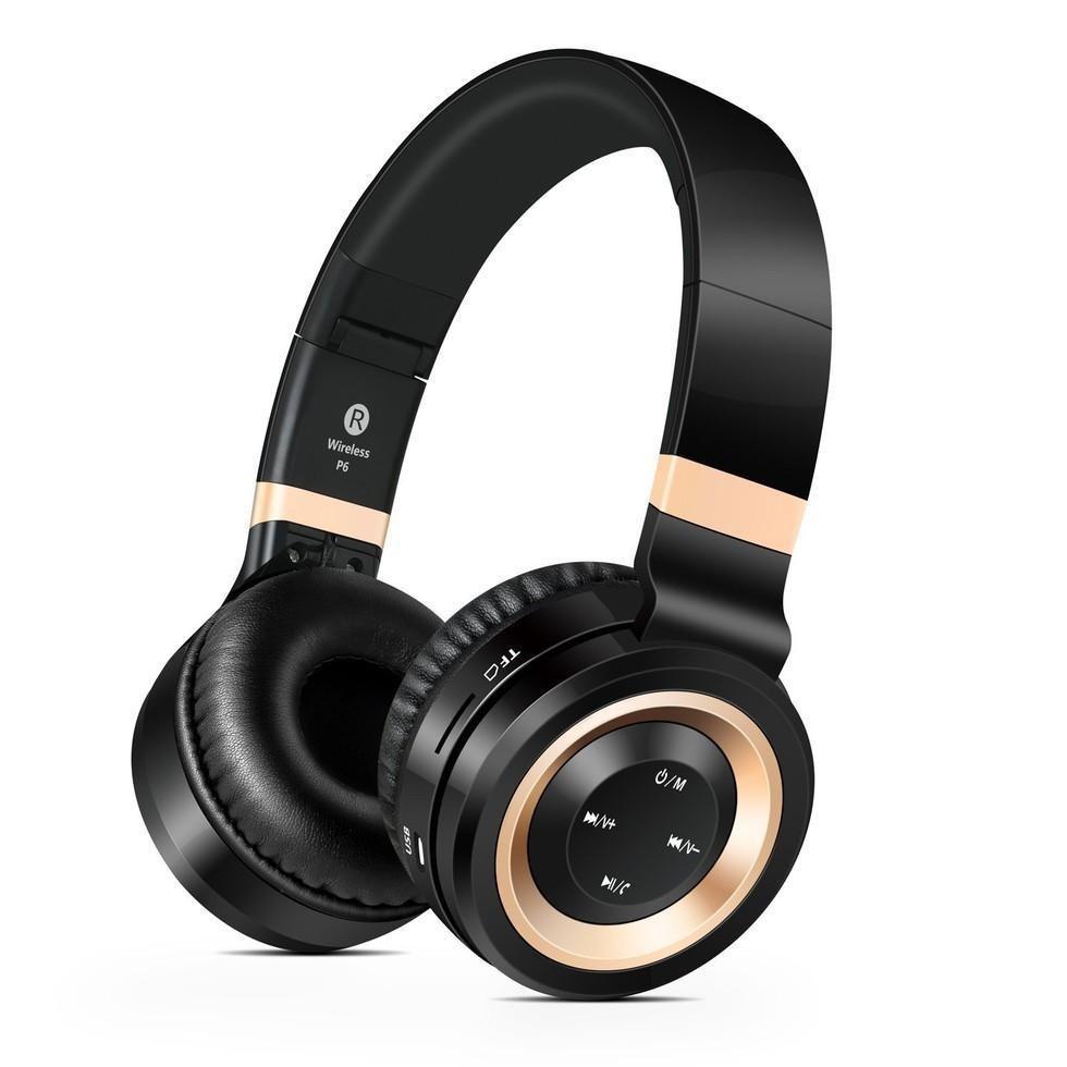 Picture of Sharper Image Black & Gold Wireless Headphones
