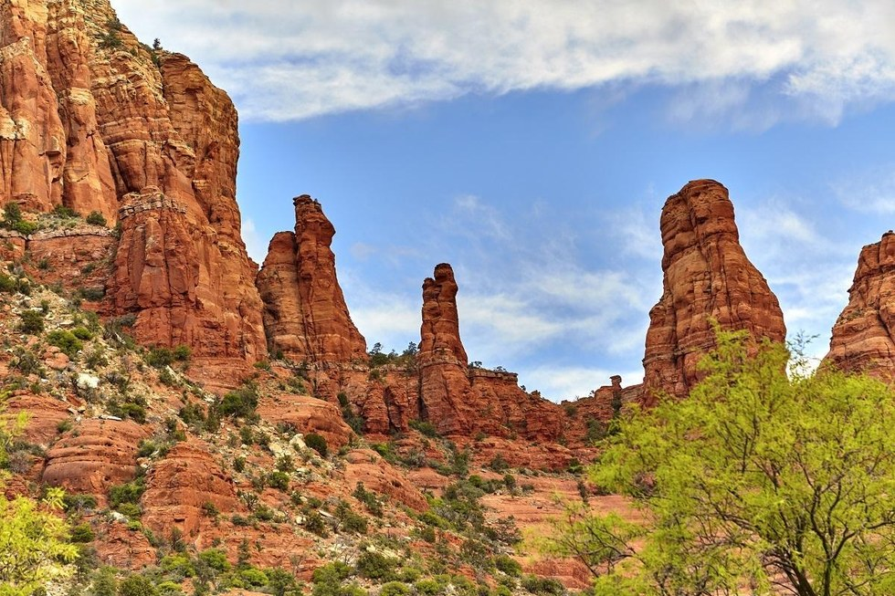 Madonna and Child Rock in Sedona, Arizona