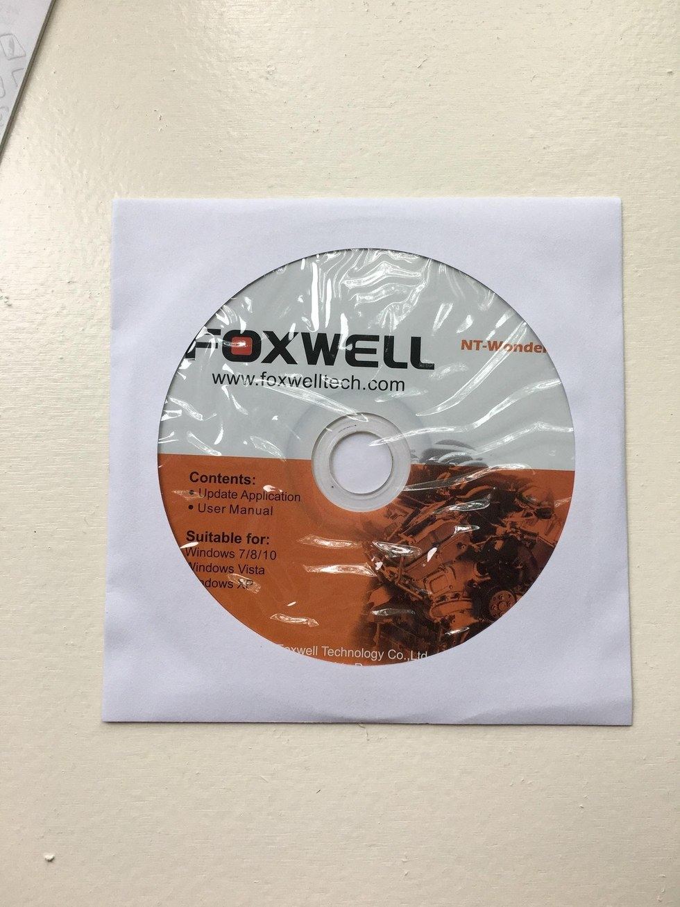 Foxwell NT301 OBD2 Code Reader Disc