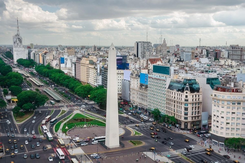 Aerial view of the capital city of Argentina.